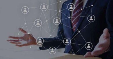 ネットワークでつながっている人のイメージ図