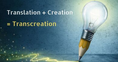 transcreation=translation + creation